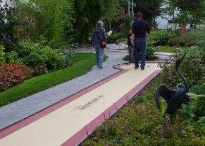 Gartenumänderung Minigolfanlage Studen 1